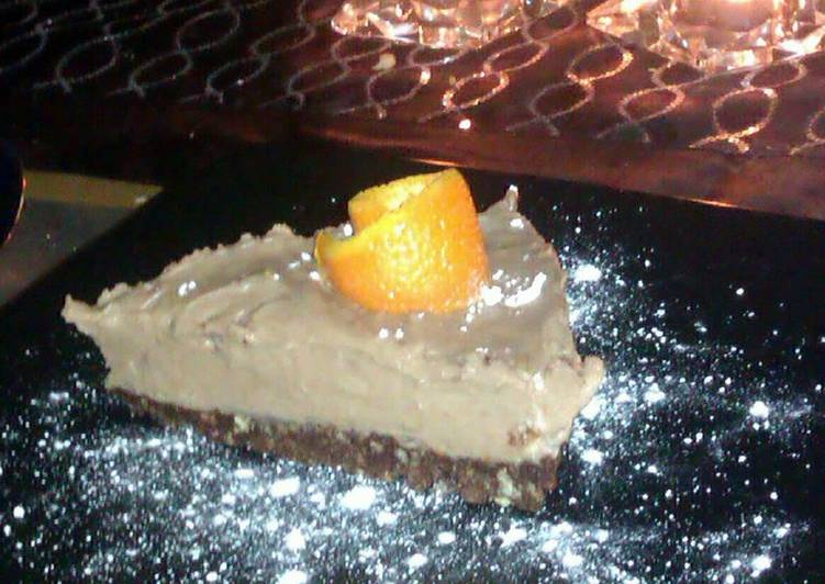 chocolate orange cheesecake with popping candy