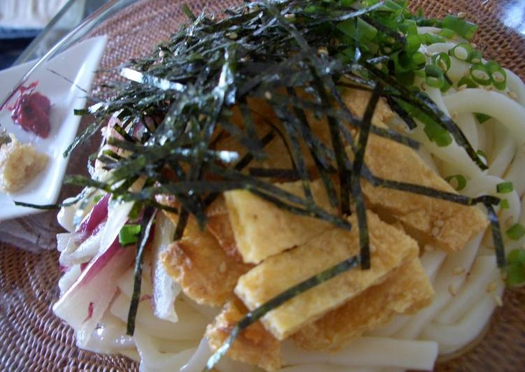Steps to Prepare Homemade Chilled Udon Noodles with Sauce