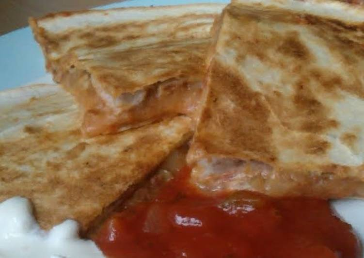 Recipe: Delicious Vickys Refried Bean Quesadillas, Gluten, Dairy, Egg & Soy-Free