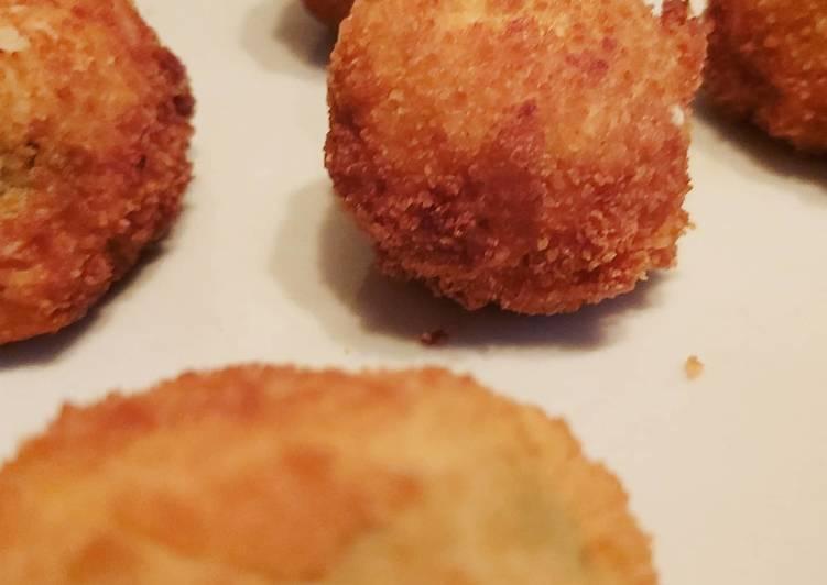 Croquette de fromage poivrons