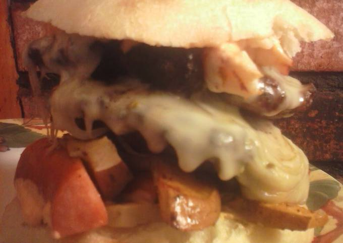 Recipe: Tasty Brad's cajun burger with Louisiana hot sauce aioli