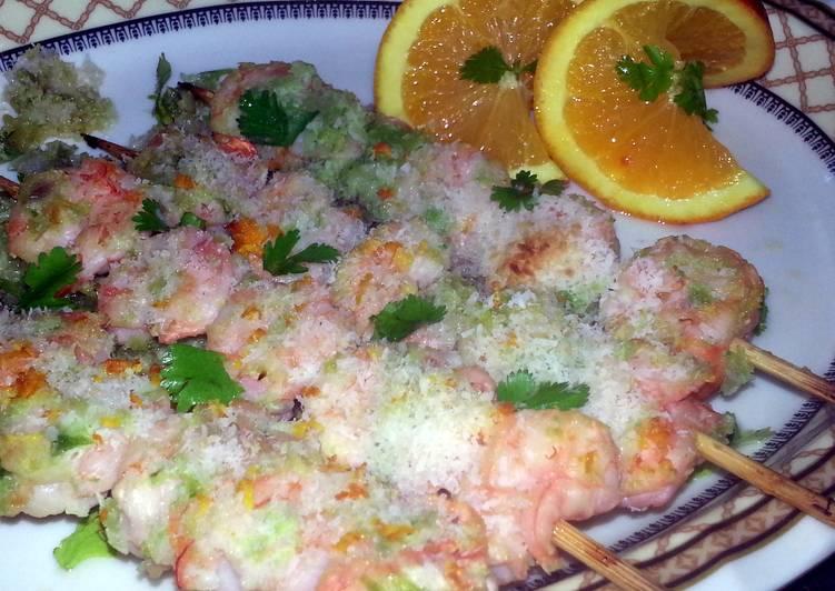 tropical shrimp skewers