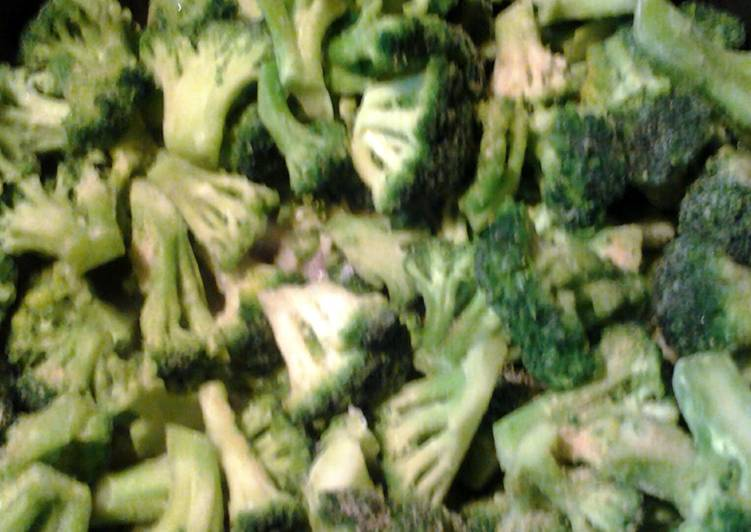 broccoli and shallot butter