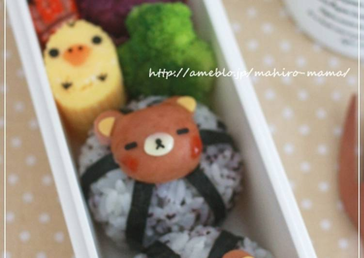 Korilakkuma Bento with Mini Sausages