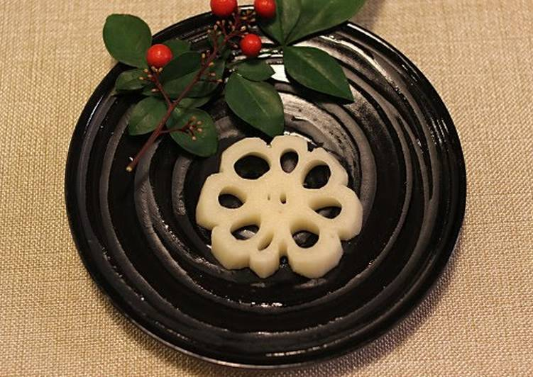 10 Minute Step-by-Step Guide to Prepare Vegan For Osechi (New Year's Feast) Decorative Lotus Root Slices