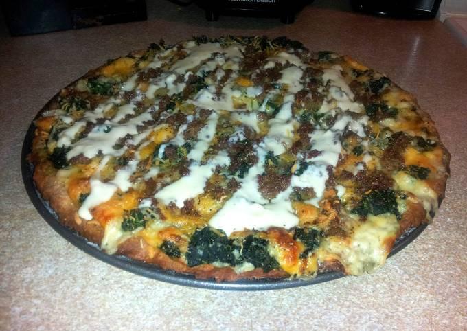 Chicken Alfredo Spinach Pizza