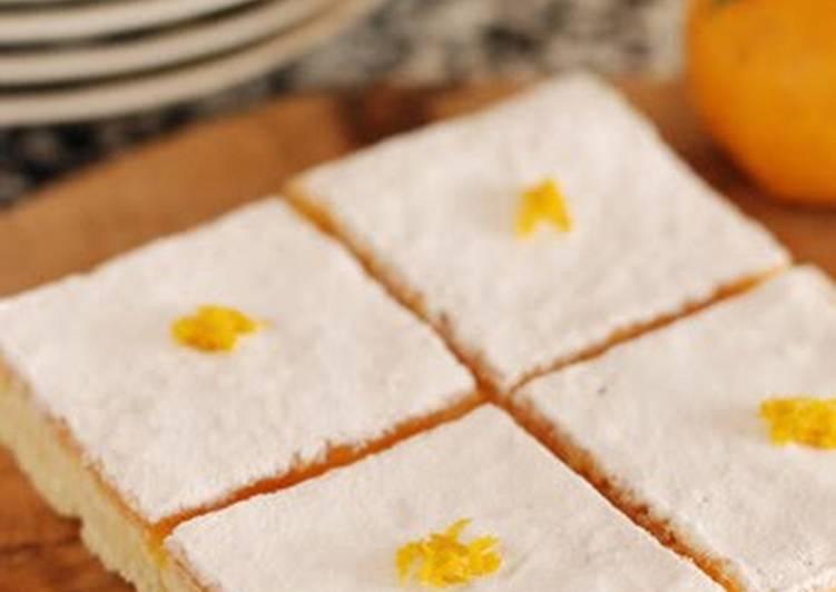 Recipe of Speedy Yuzu Squares