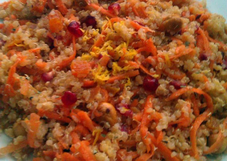 Simple Way to Make Top-Rated Vickys Quinoa with Carrot, Hazelnut & Pomegranate, GF DF EF SF