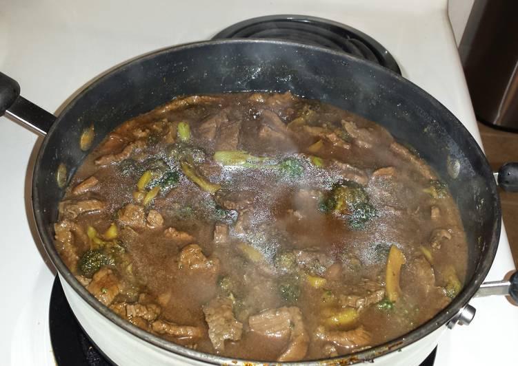 Beef and Broccoli w/Rice Pilef