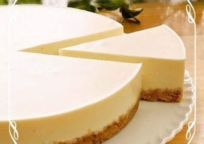 How to Make Yummy Rich and Easy No-Bake Cheesecake (Plain)