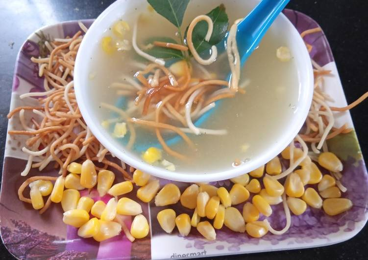 Chicken sweet corn soup Easy to microwave in minutes