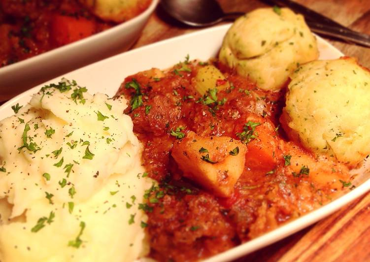 Simple Way to Make Quick Beef & Vegetable Casserole with Parsley Dumplings