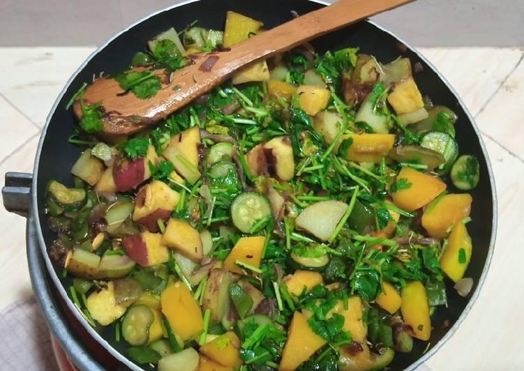 Steps to Prepare Award-winning #vegetablechallenge stir fried veges