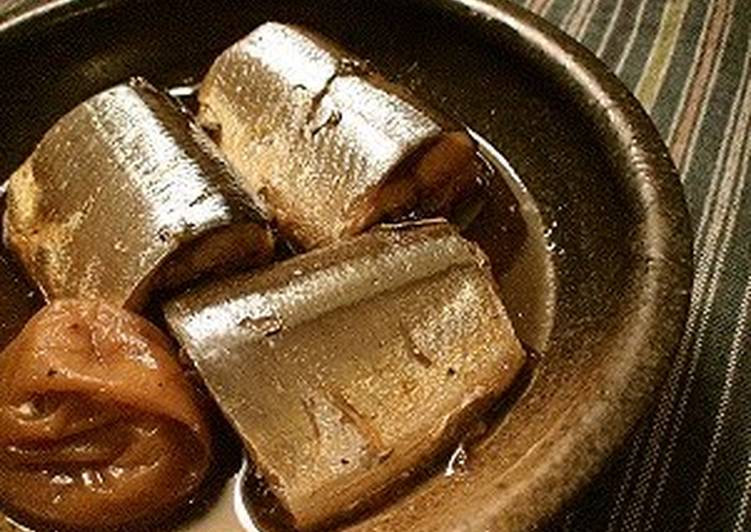 Steps to Make Award-winning Saury Stewed with Umeboshi (pickled plums)