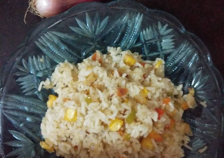 Steps to Make Super Quick Homemade Corn fried Rice