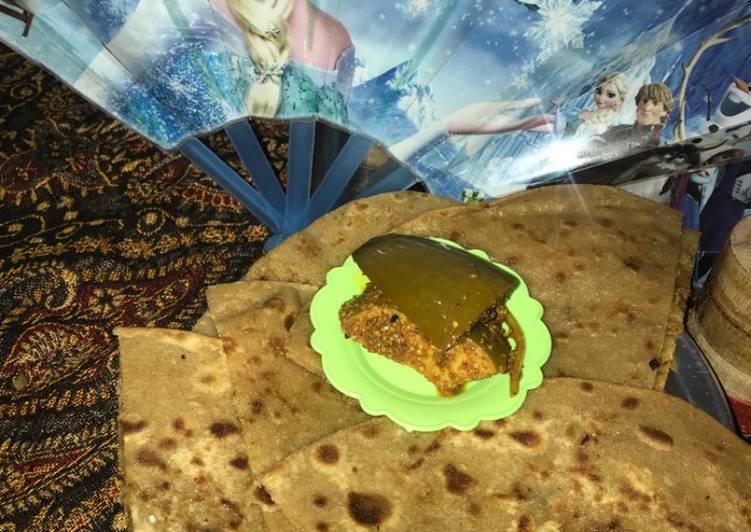 Recipe of Favorite Qeema vegi parhata