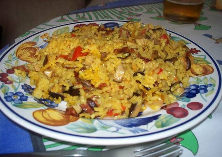 Hacer receta chopo arroz para con