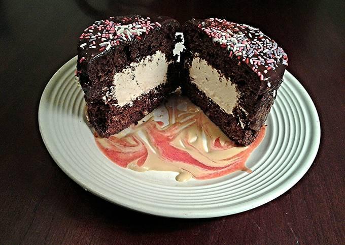 Tiramisu Cream Filled Chocolate Cakes