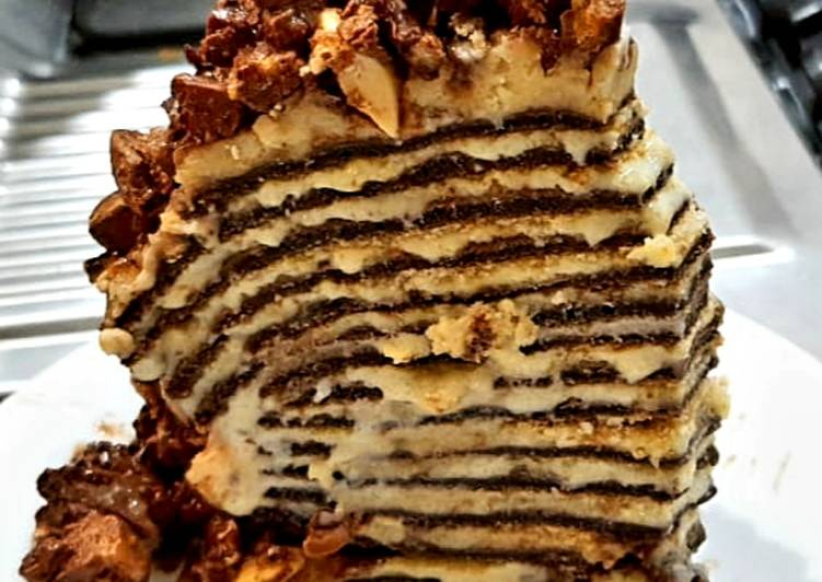 Recipe of Homemade Chocolate crepe cake