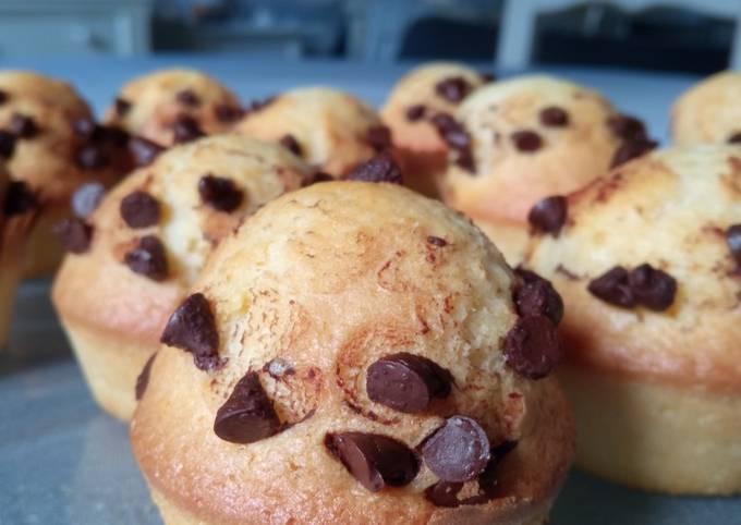Muffins pépites de chocolat ou coeur chocolat