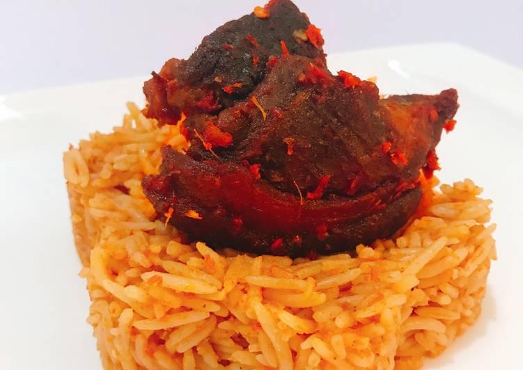 10+ Dinner Ideas Award Winning Jollof rice and fried goat peppered goat meat