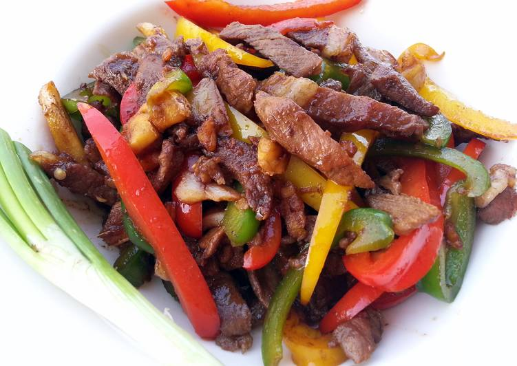Recipe of Award-winning Teriyaki Lamb With Bell Pepper