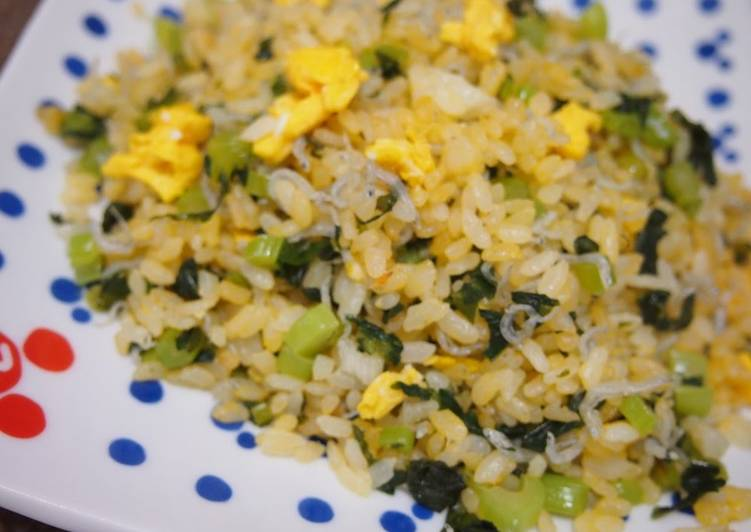 30 Minute How to Prepare Royal Japanese-Style Fried Rice with Chirimen Jako and Nozawana