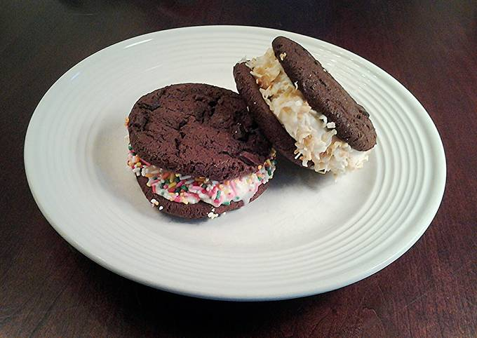 Easiest Way to Cook Yummy Brownie Cookie Ice Cream Sandwiches