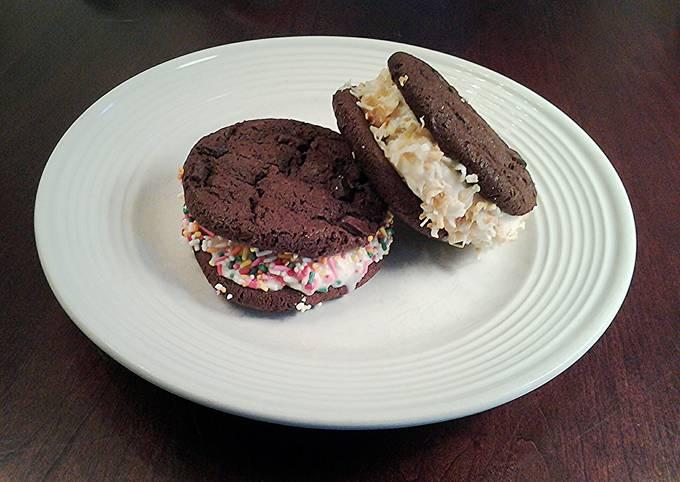 Recipe: Yummy Brownie Cookie Ice Cream Sandwiches