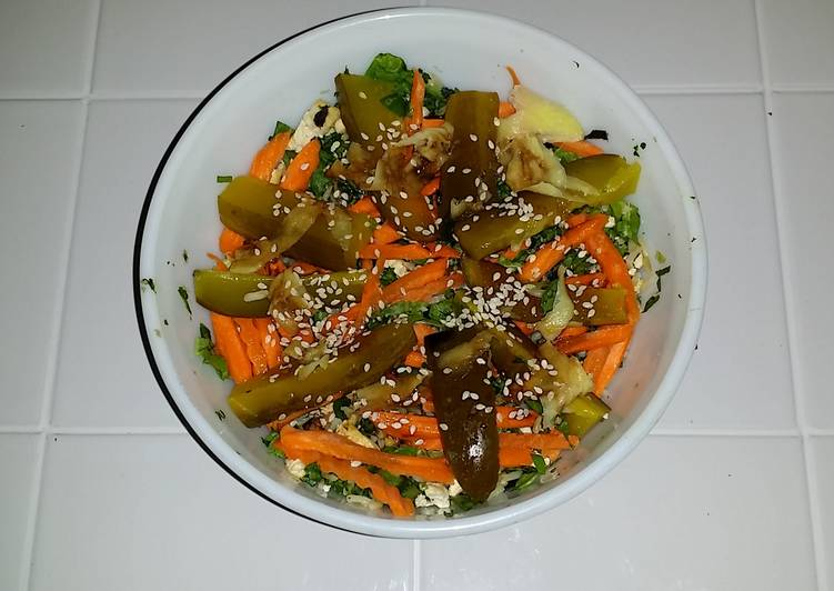 Easy to Make Ultimate Veggie/Tofu Salad (Lactose Intollerant Friendly/Treenut Allergy Safe)