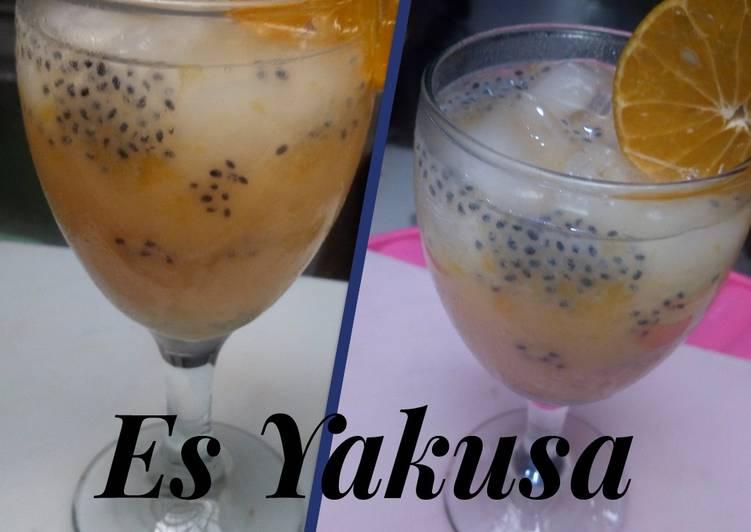 Es Jerman Yakusa (jeruk manis+yakult segar)