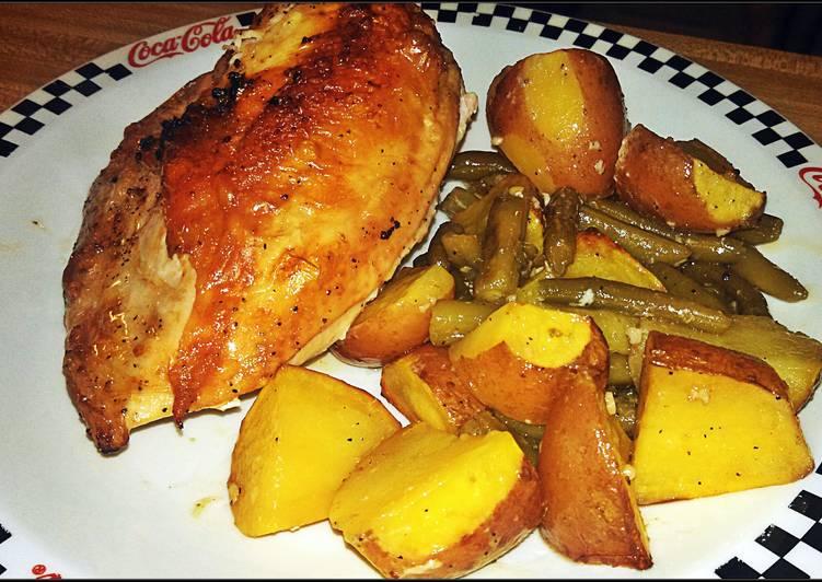 Pan-Roasted Chicken with Lemon-Garlic