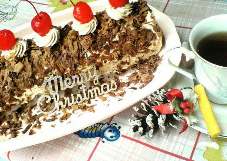 Mocca Roll Cake (Bolu Gulung Mocca) no SP no BP tp lembut & tips