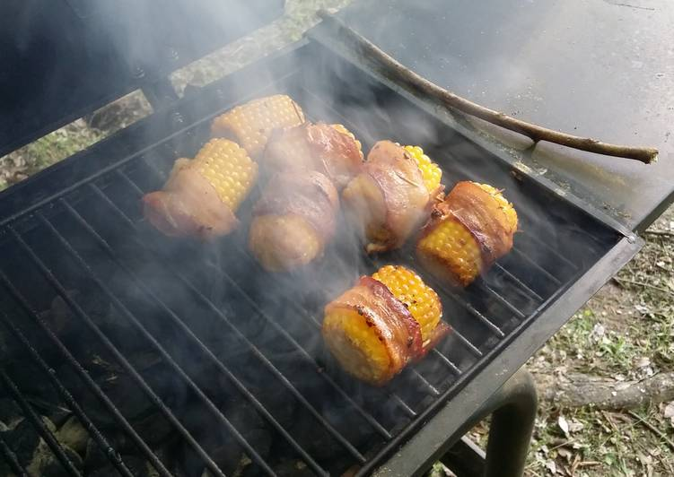 Grill Bacon Wrapped Corn