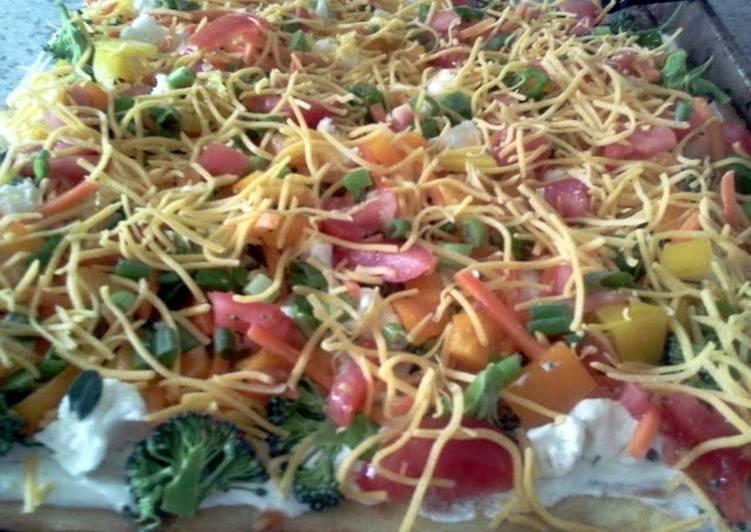 vegetable veggie pizza
