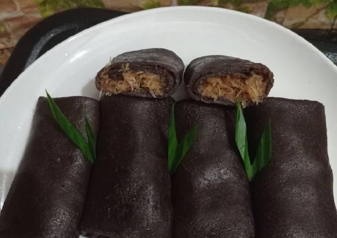 Resep Dadar gulung coklat Anti Gagal