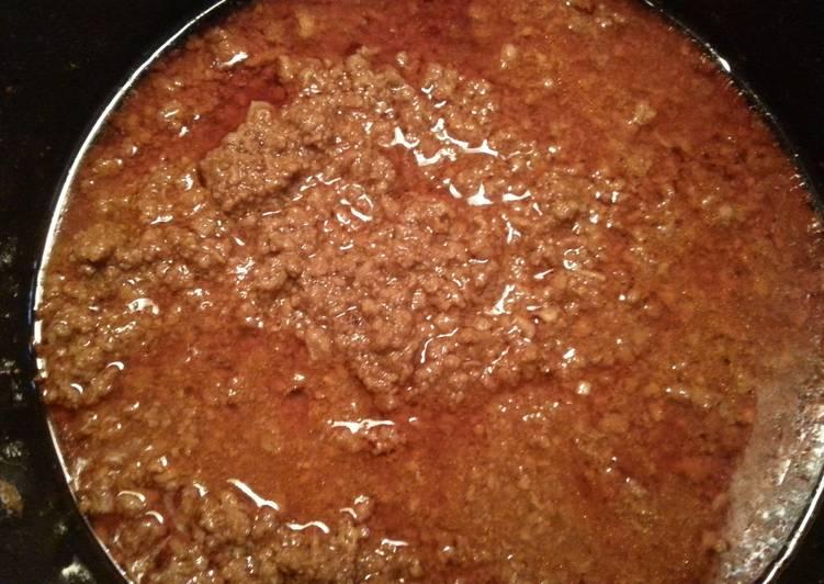 Recipe of Perfect Hotdog chilli