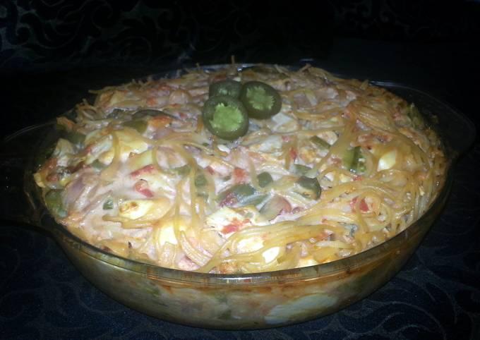Recipe: Delicious Velveeta rotel chicken spaghetti
