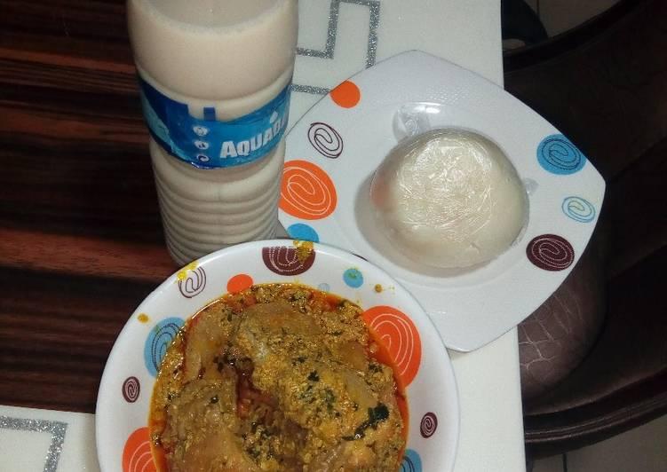 Recipe of Award-winning Pounded yam and egusi soup