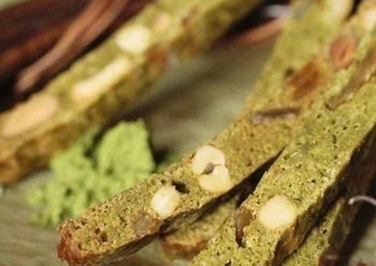 Matcha Biscotti using Homemade Sourdough Starter