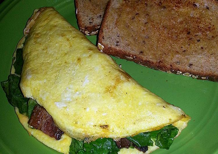 Step-by-Step Guide to Prepare Quick breakfast BLT omlete