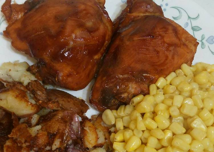 Recipe: Yummy BBQ Chicken Thighs