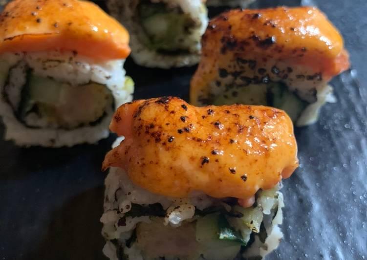Spicy Salmon Mentai Sushi