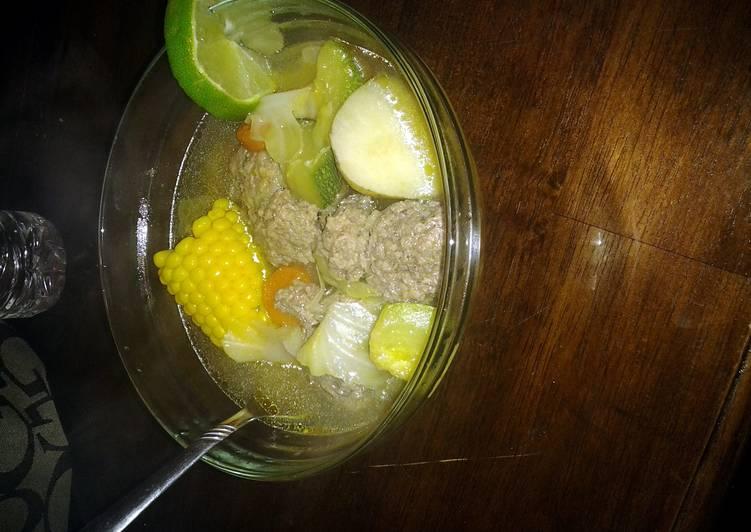 Caldo de Albondigas ( Meatball Soup ) - Laurie G Edwards