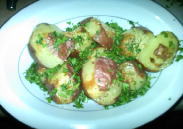 Garlicky parsley red potatoes, Helping Your Heart with Food