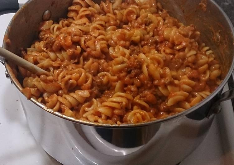 Simple Bean Pasta
