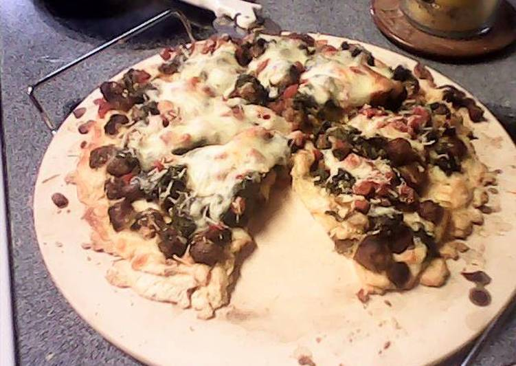 Italian Sausage Spinach Ricotta Cheese Pizza