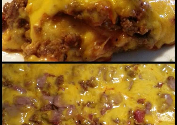 Cara's Green Chile Enchilada Bake