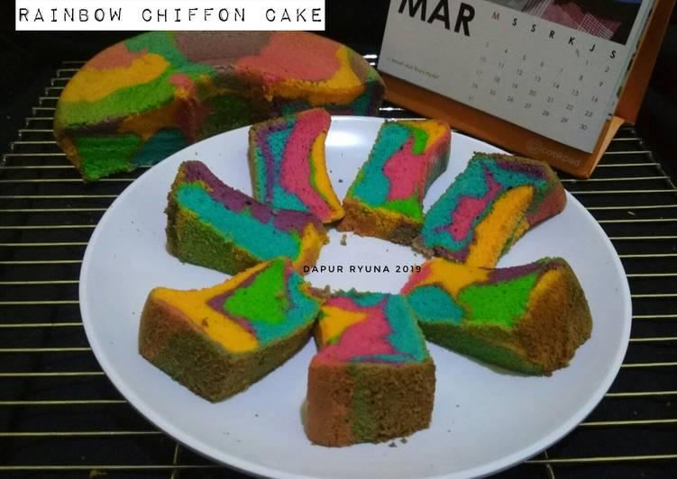Resep Rainbow Chiffon Cake yang Bikin Ngiler