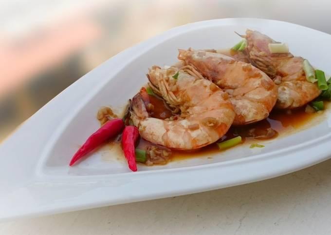 Drunken Spicy Garlic Shrimp